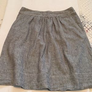 Eileen Fisher Cotton Skirt Black and White Sz XS